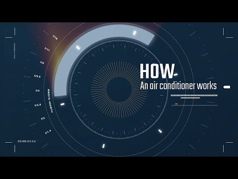 A very simple explanation of how an air conditioner works...